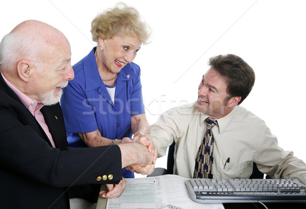 Tax Series - Group Handshake Stock photo © lisafx