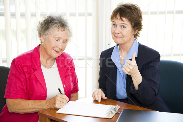 Businesswoman Made a Sale Stock photo © lisafx