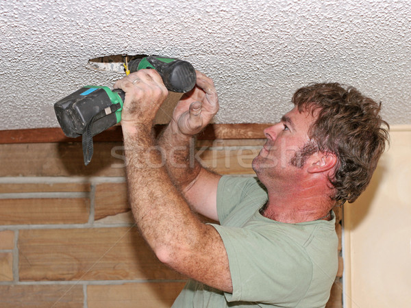 Electrician Drilling Stock photo © lisafx