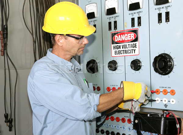 Electrician High Voltage Stock photo © lisafx