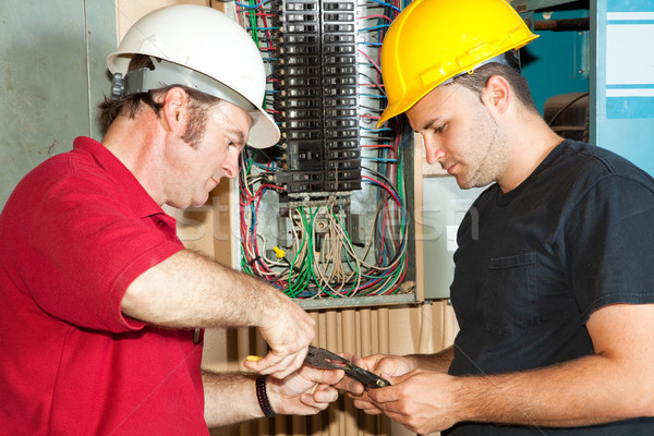 Electricians Repair Circuit Breaker Stock photo © lisafx
