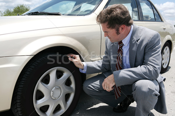 Flat Tire with Screw Stock photo © lisafx