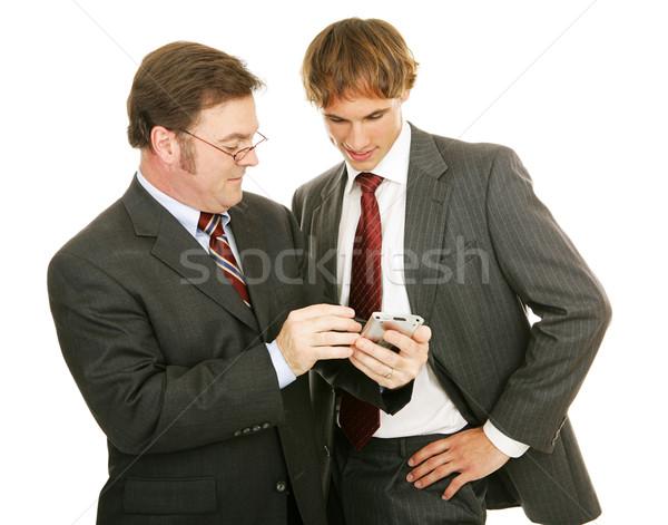 Mentor biznesmenów biznesmen młodych Zdjęcia stock © lisafx