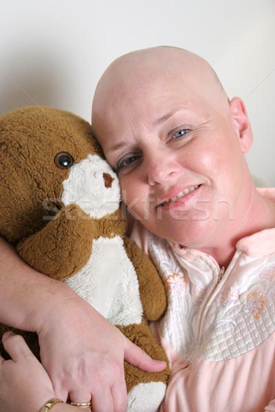 Estrada câncer sobrevivente ursinho de pelúcia Foto stock © lisafx