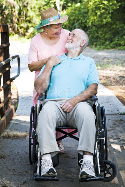 Senior Man and Caretaker Stock photo © lisafx