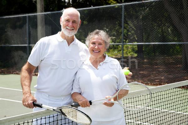Tennis Senior Couple Stock photo © lisafx