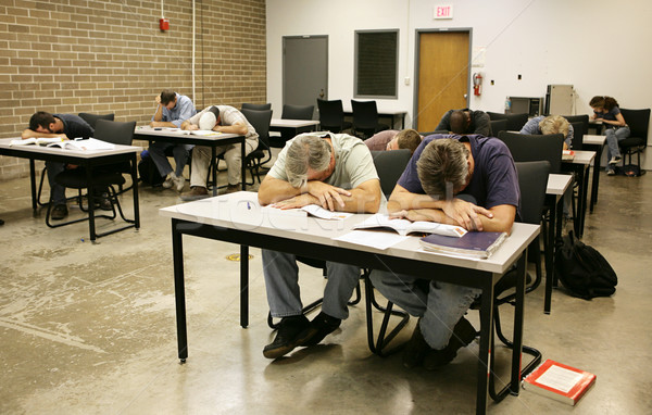 Adult Ed - Asleep in Class Stock photo © lisafx