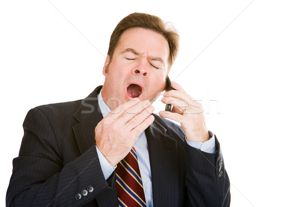 Businessman Sleepy & Bored Stock photo © lisafx