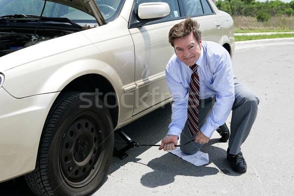 Flat Tire - Jack Stock photo © lisafx