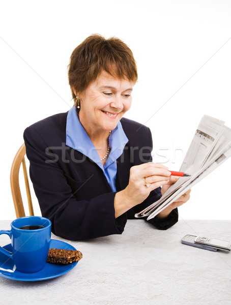 Positieve houding mooie volwassen zakenvrouw Stockfoto © lisafx