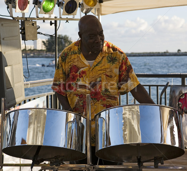 Stock photo: Musician On Steel Drums