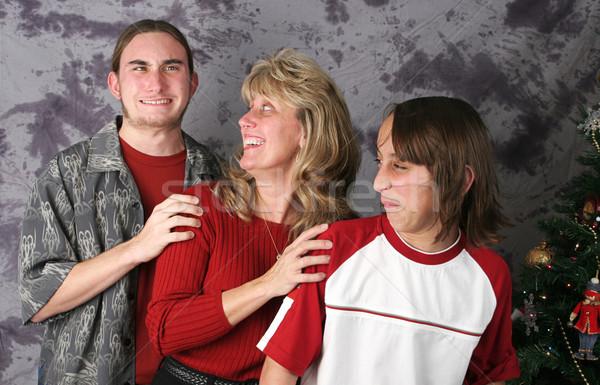 şanssız portre aile poz Noel Stok fotoğraf © lisafx