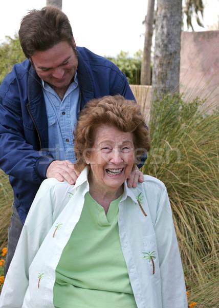 Senior Enjoying Massage Stock photo © lisafx