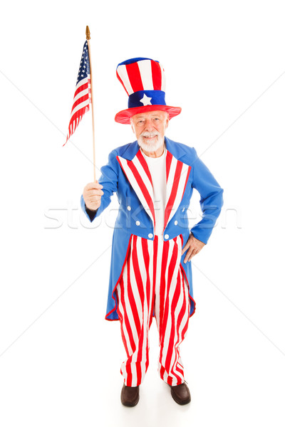 Uncle Sam with American Flag Stock photo © lisafx