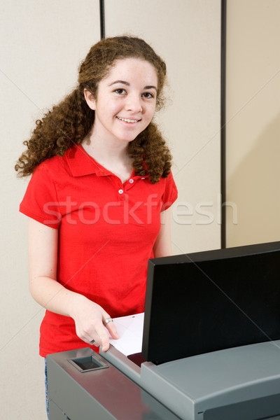 Young Woman Votes Stock photo © lisafx