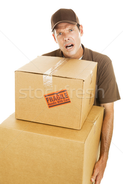 Delivery Man - Frustration Stock photo © lisafx