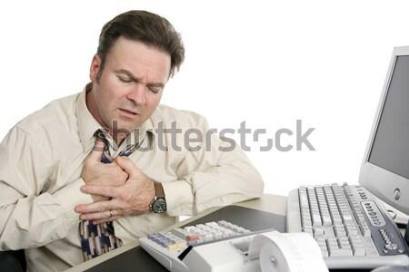финансовых несварение сердечный приступ бизнесмен белый Сток-фото © lisafx