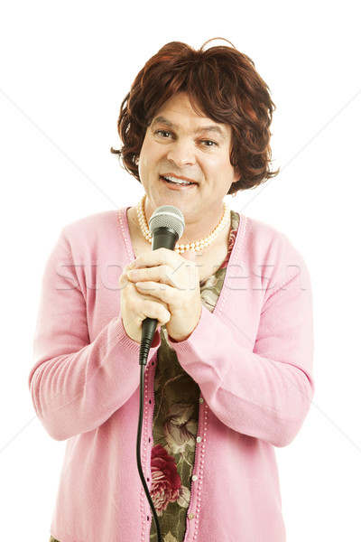 Cross Dressing Impersonator Stock photo © lisafx