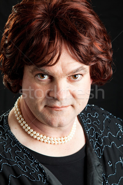 Drag Queen Portrait - Serious Stock photo © lisafx