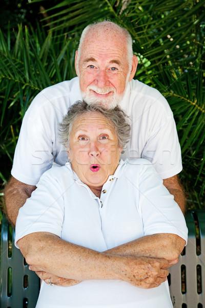 Playful Couple - Tickling Stock photo © lisafx