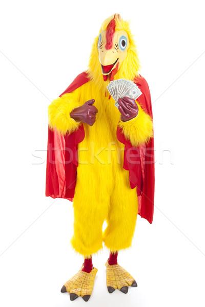 Chicken Man with Cash Stock photo © lisafx