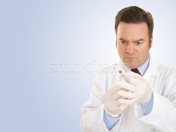Doctor with Syringe Copyspace Stock photo © lisafx