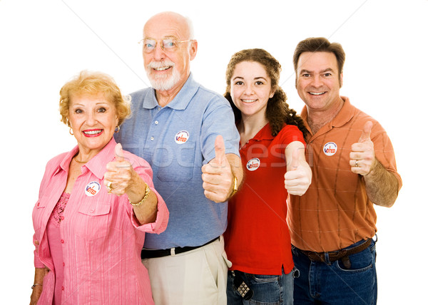 Family of Voters - Thumbsup Stock photo © lisafx
