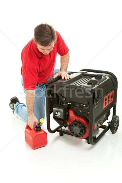 Gasoline Powered Generator Stock photo © lisafx