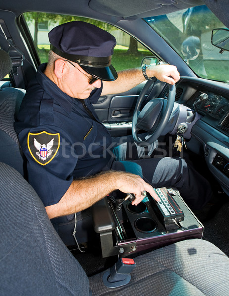 Police Officer With Siren Stock photo © lisafx