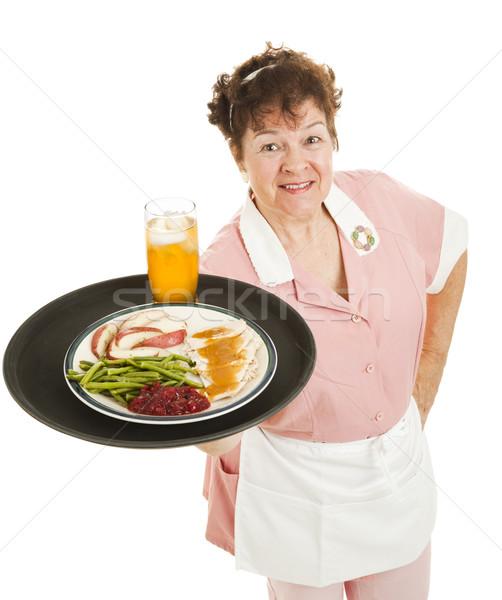 Stockfoto: Serveerster · diner · geserveerd · vriendelijk · Turkije