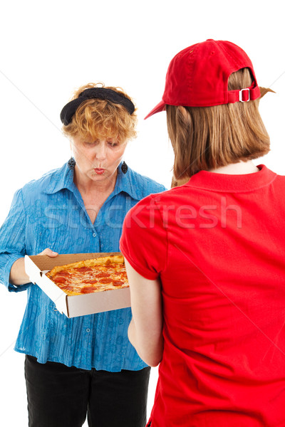 Ooooh - Yummy Pizza Delivery Stock photo © lisafx