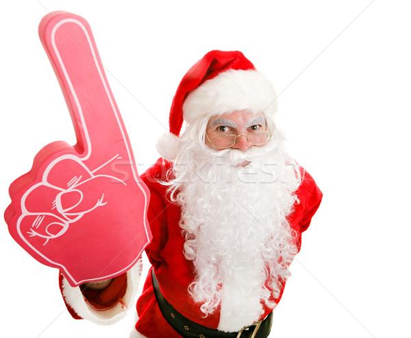 Сток-фото: спортивных · вентилятор · пена · пальца · Дед · Мороз
