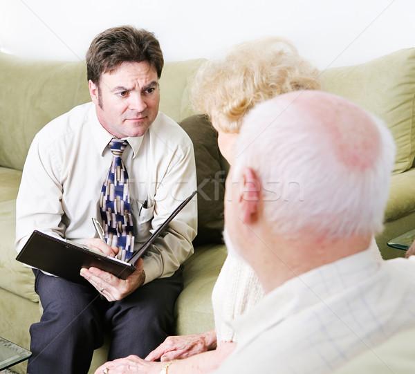 Pary empatia doradca pomoc starszy para małżeństwa Zdjęcia stock © lisafx