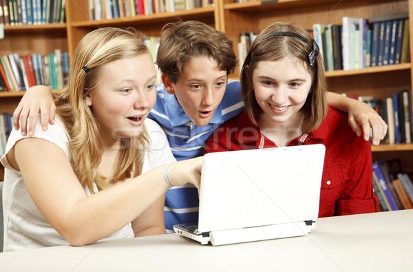 インターネット 教育 驚いた 子供 学校 ライブラリ ストックフォト © lisafx