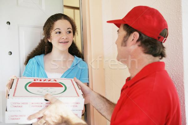 Teen Girl Orders Pizza Stock photo © lisafx