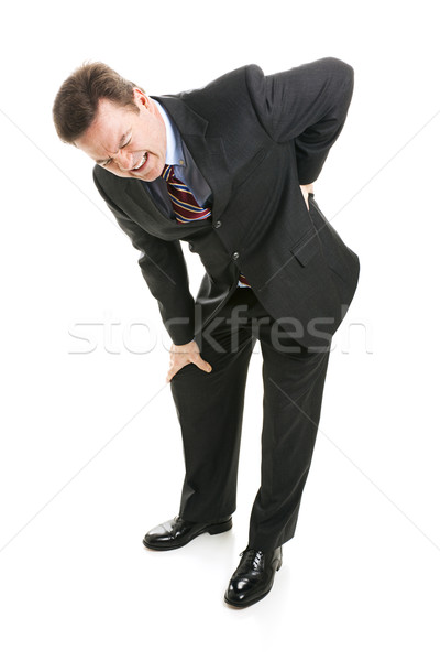 Stock photo: Businessman Suffers with Back Pain