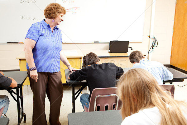 School Class - Testing Stock photo © lisafx