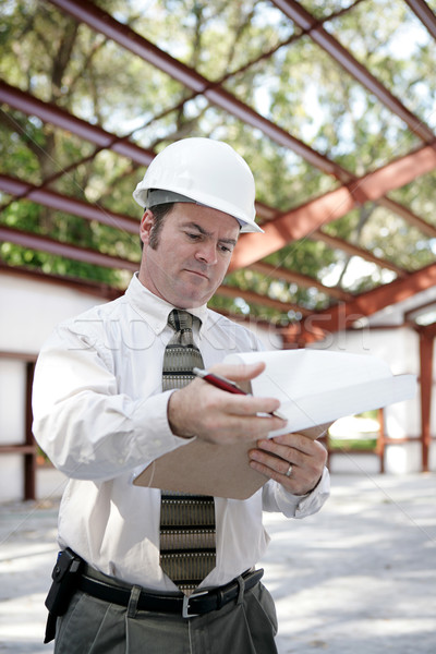Construction Inspector - Reviewing Notes Stock photo © lisafx
