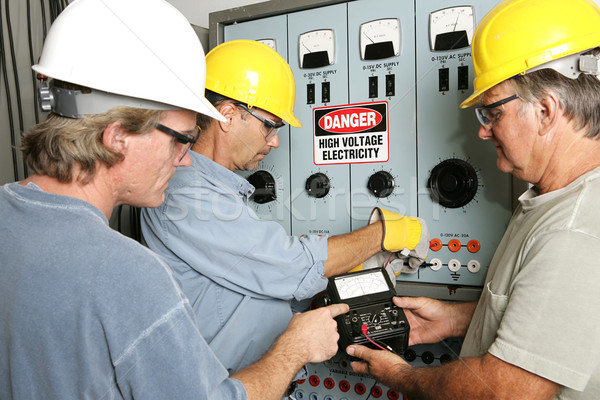 Electricians on High Voltage Stock photo © lisafx