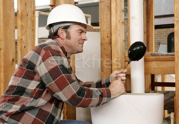 Plumbing Toilet Repair Stock photo © lisafx