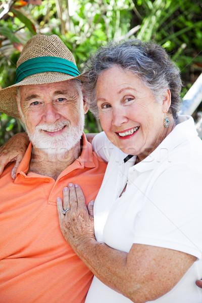 Photo stock: Couple · de · personnes · âgées · amour · extérieur · portrait · adorable · âgées