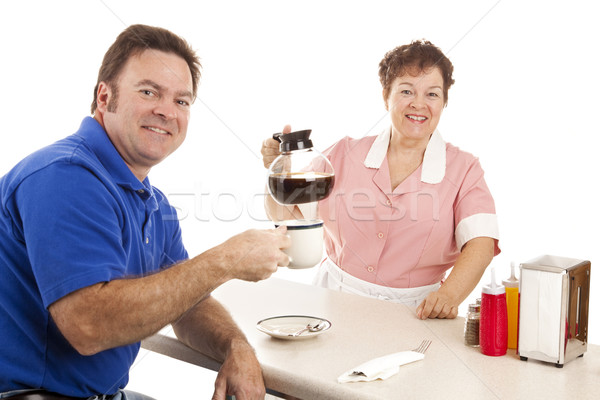 Waitress and Customer in Diner Stock photo © lisafx