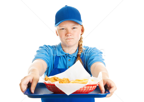 Fast Food Worker - Rude Attitude Stock photo © lisafx