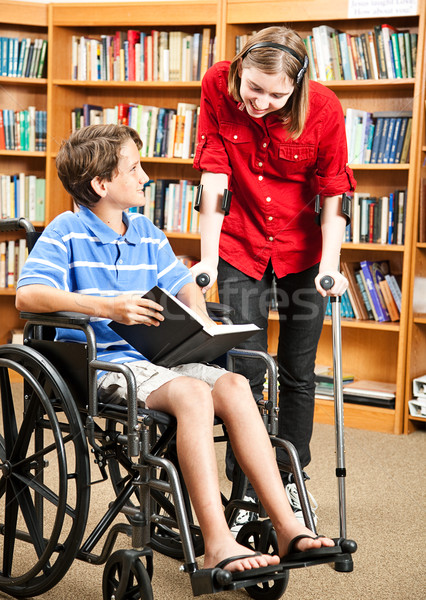Stock photo: School Children with Disabilities