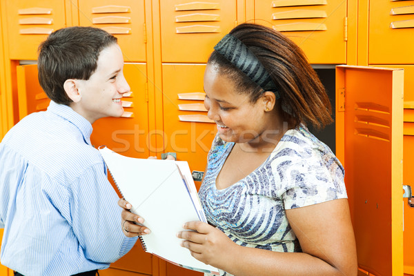 School Kids Talking by Lockers Stock photo © lisafx