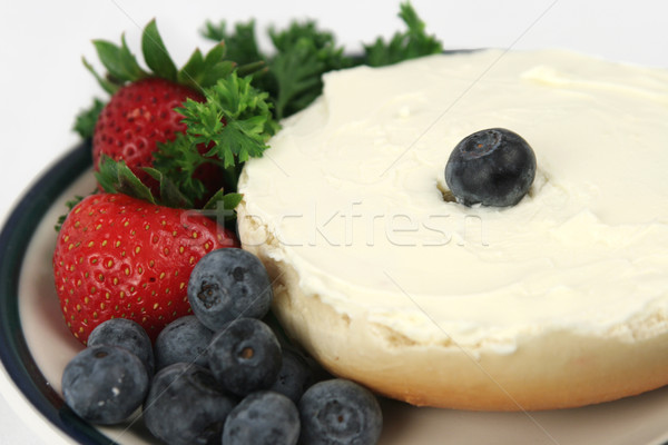 Bagel & Fruit Closeup Stock photo © lisafx