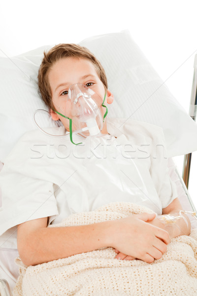 Child with Asthma Stock photo © lisafx