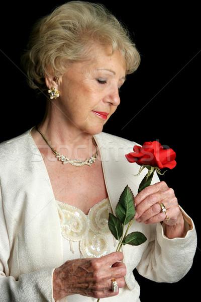 エレガントな シニア バラ 美しい 女性 ストックフォト © lisafx