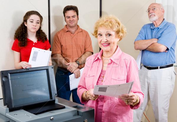 Politically Active Senior Stock photo © lisafx