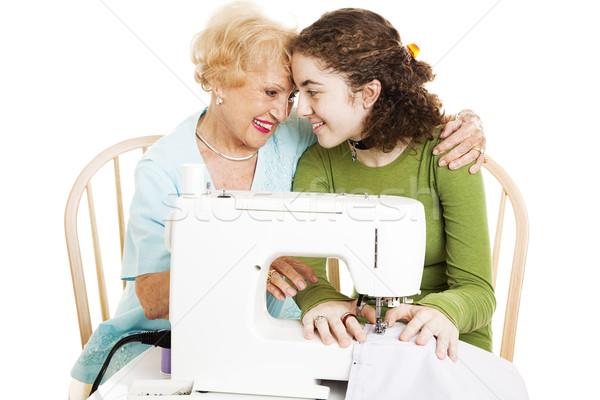 Quality Time with Grandma Stock photo © lisafx